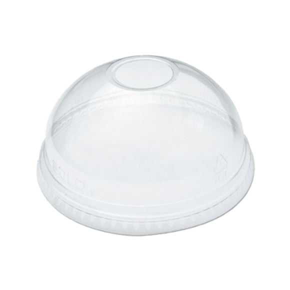 DL-78  Clear Dome Lid With Hole 1000'/Case