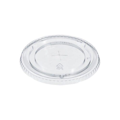 FL-78  Clear Flat Lid with Straw Slot  1000/Case