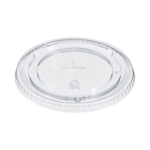 FL-98  Clear Flat Lid with Straw Slot  1000/Case