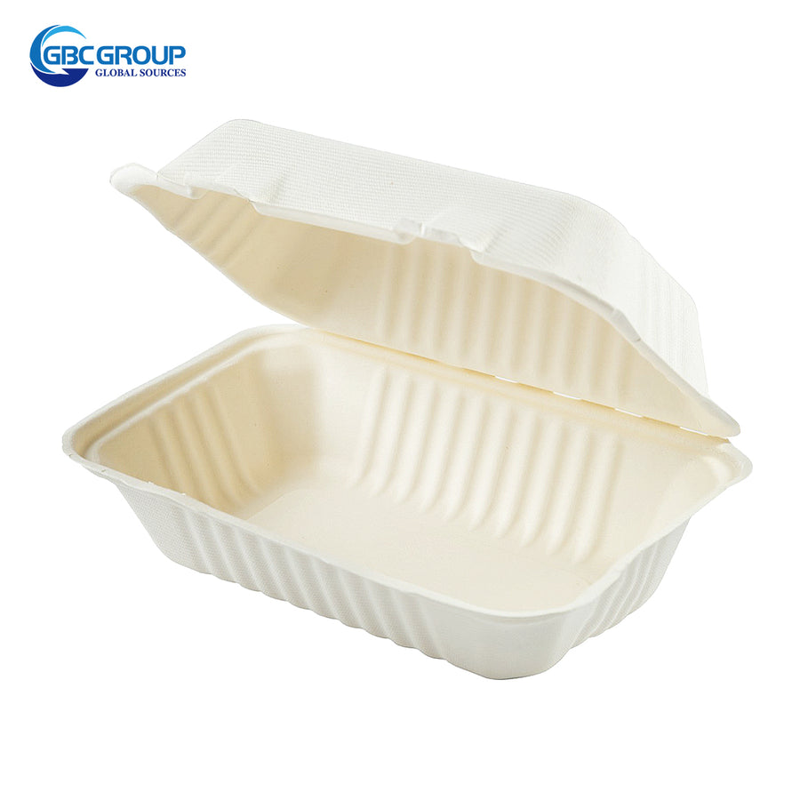 GD-963P  DEEP FIBER HOAGIE HINGED LID CONTAINERS, 250/CASE