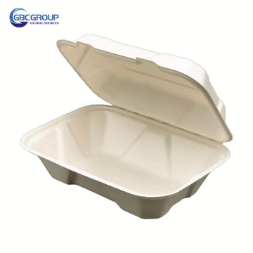 GD-963 MIDIUM SIZE FIBER HOAGIE HINGED LID CONTAINERS, 200/CASE