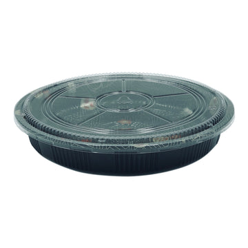 HQ-64 Round Party Tray With Lid 120Set/CS