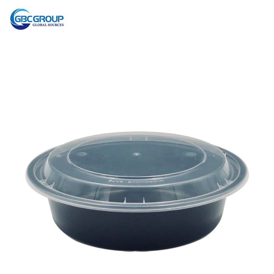 R-700B 23oz Round Microwavable Container With clear Lid 150Set/CS