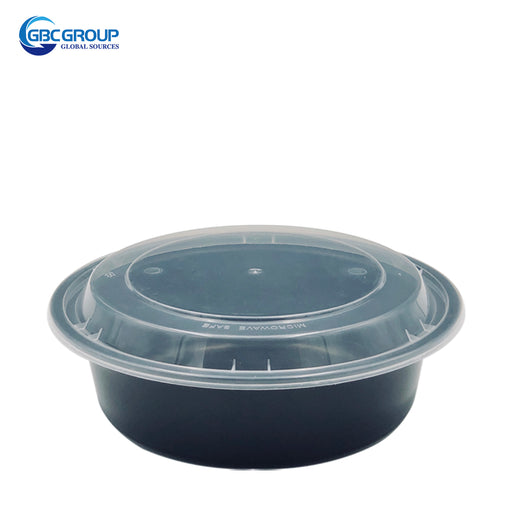 R-24 24oz Round Microwavable Container With clear Lid 150Set/CS
