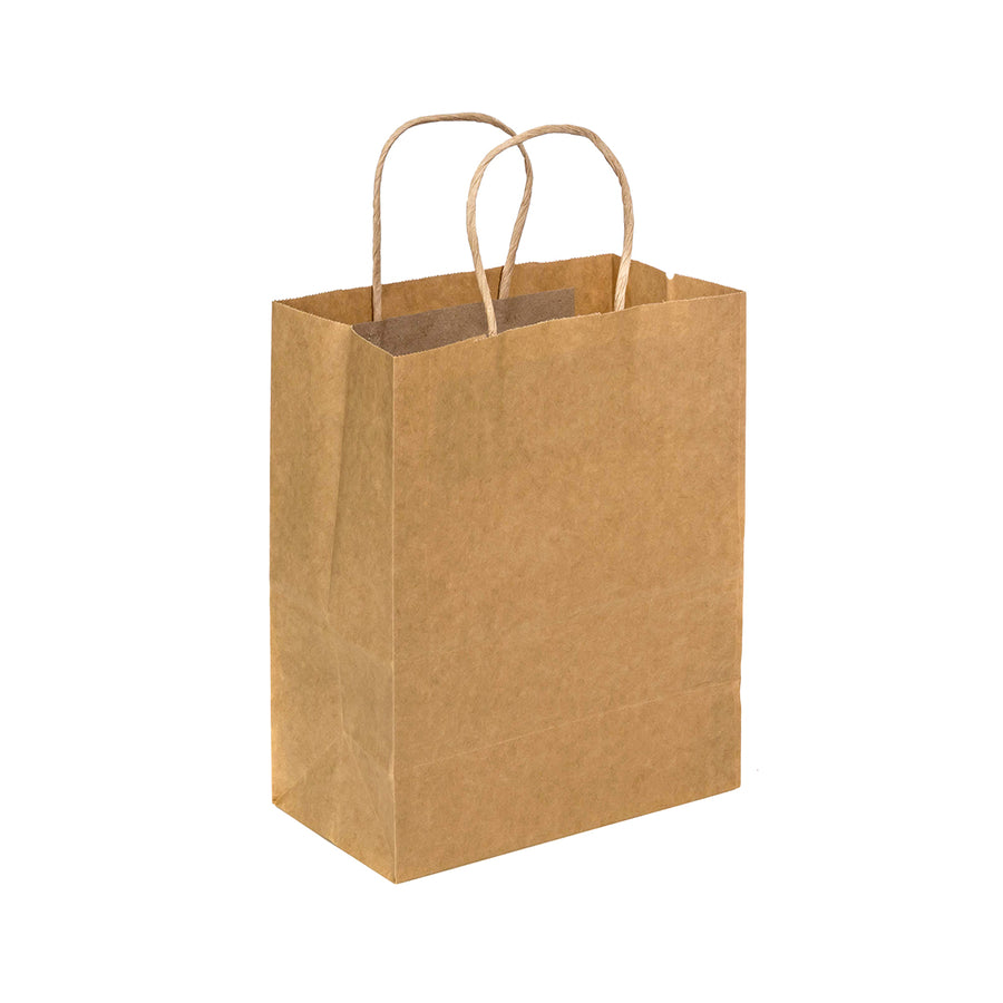 U Cut - Kraft Paper Bag (Twisted Round Handle 120gsm) 10