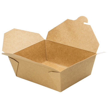 K-4160 #4 Kraft Take-Out Box 160/Case