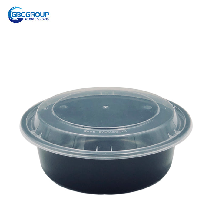 R-32 32oz Round Microwavable Container With clear Lid 150Set/CS