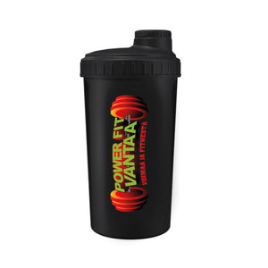 Power Fit Shaker 700 ml, Musta