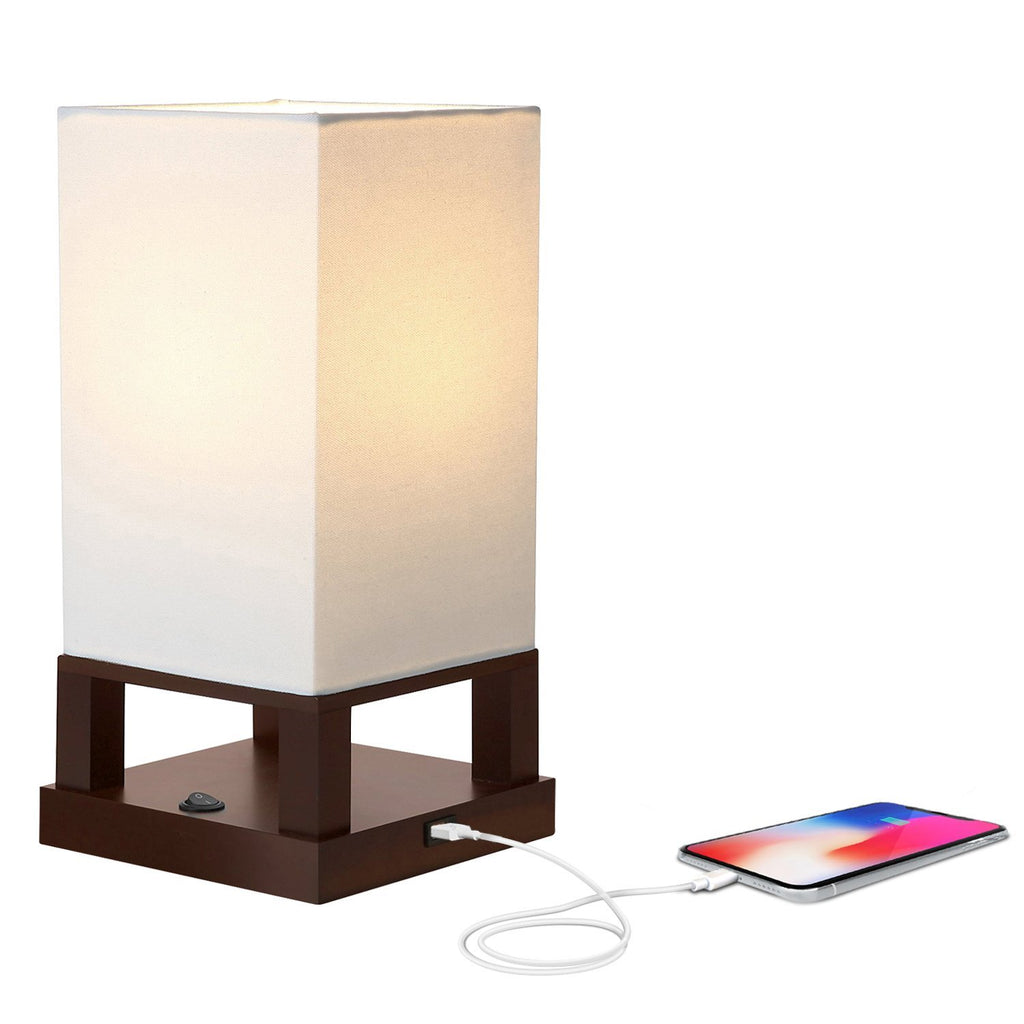 Maxwell LED Table U0026 Desk Lamp W/ USB Port For Charging Devices   Asian  Shelf Lamp Style   Includes 800 Lumen LED Light Bulb