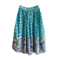 Turquoise Flowy Skirt