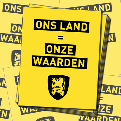 50X Ons Land sticker