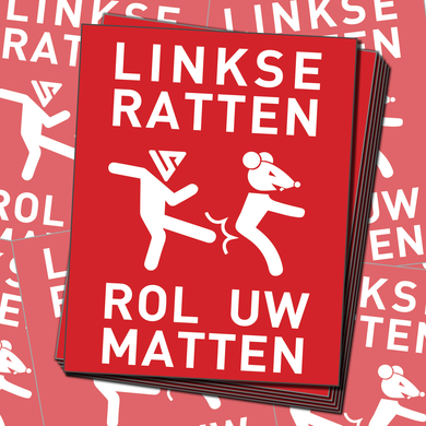 50 x Rode Linkse Rat