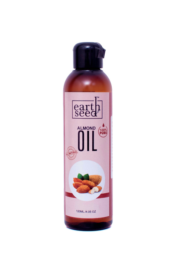 EarthSeed Almond Oil, 100% Pure, 120ml