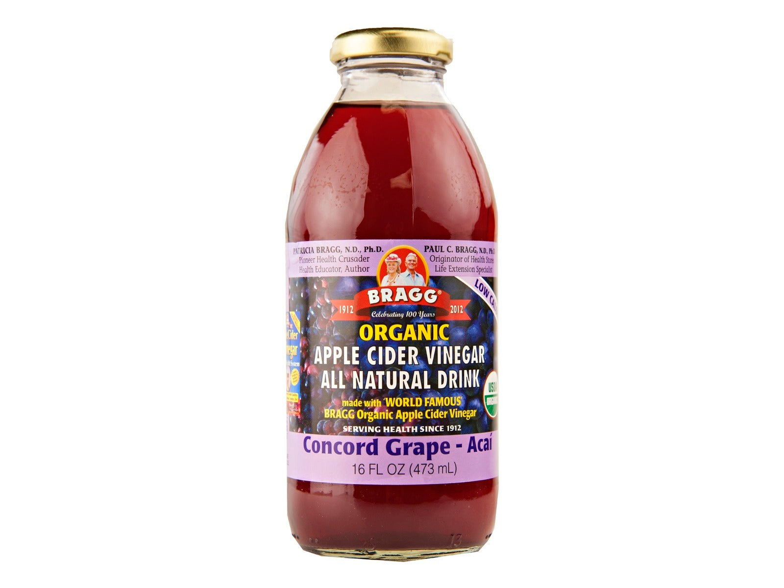 Bragg's Apple Cider Vinegar Healthy Energy Drink (Concord Grape - Acai) 473ml