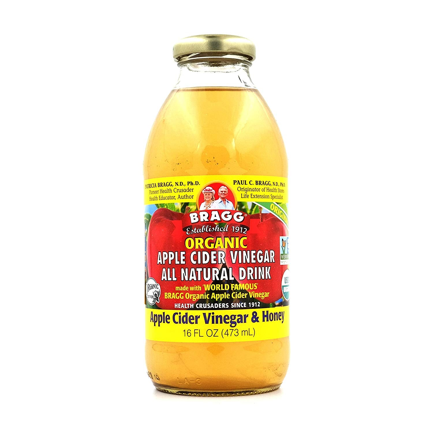 Bragg's Apple Cider Vinegar Healthy Energy Drink (Honey) 473ml