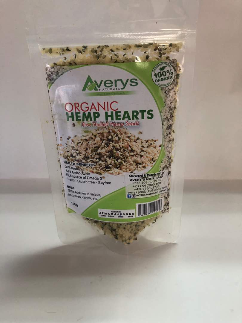 Hemp Hearts, Hemp Seeds, Organic 100g