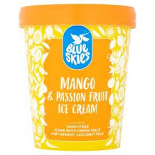 Blue Skies Mango & Passion Fruit Ice Cream, Dairy Free, Vegan, 125ml