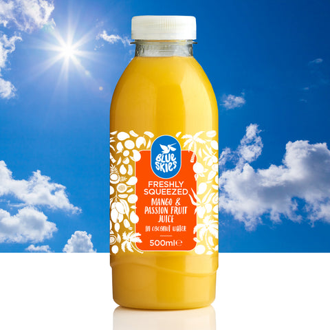 Blue Skies Mango and Passion Fruit in Coconut Water, 500ml (Tropicoco)