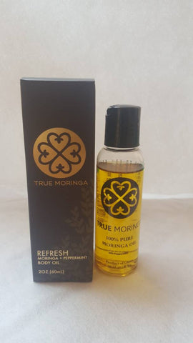 Body Oil - Moringa and Peppermint *Proudly Made in Ghana*