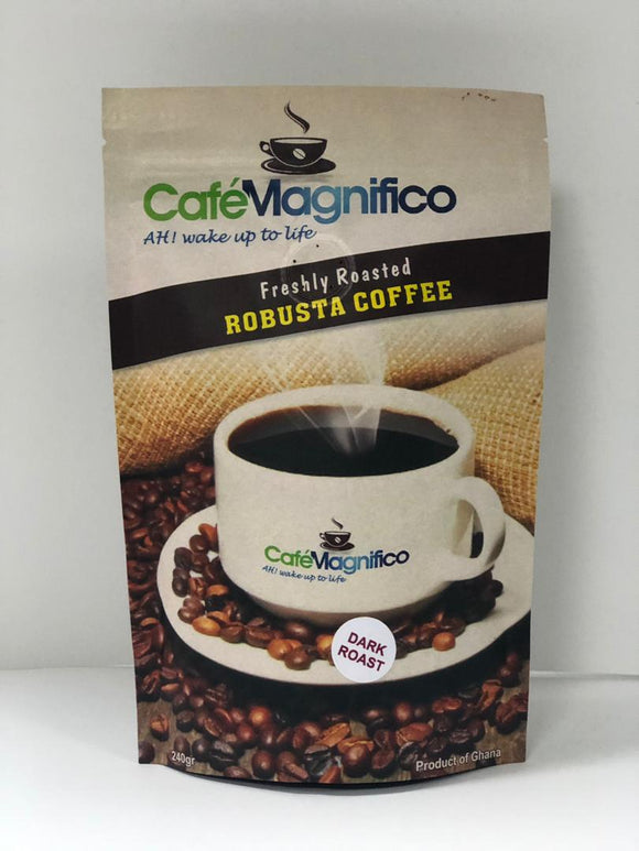Robusta Coffee, Dark Roast, Cafe Magnifico