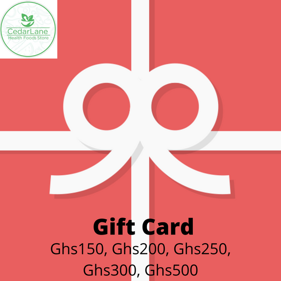 Gift Cards - Large. Available in gh150, gh200, gh250, gh300, gh500
