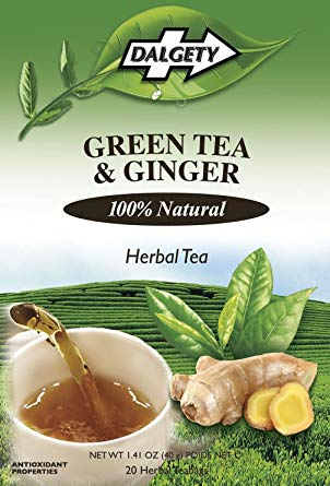 Green Tea and Ginger Herbal Tea, Dalgety Teas - 40g