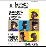 Nkunim 2.0 By WearGhana FDA Approved Nose & Face Mask (Set of 5)