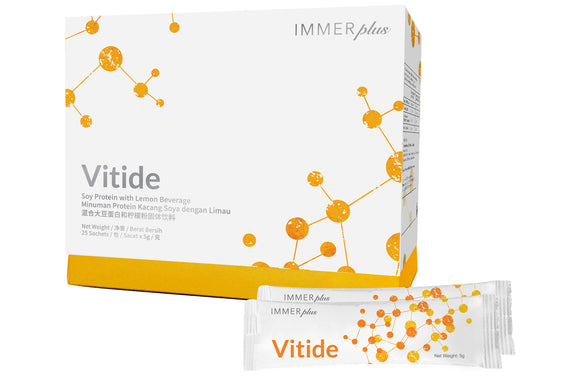 Vitide (SINGLE SATCHET) Soy Protein, Micro Molecule Nutrient Peptide