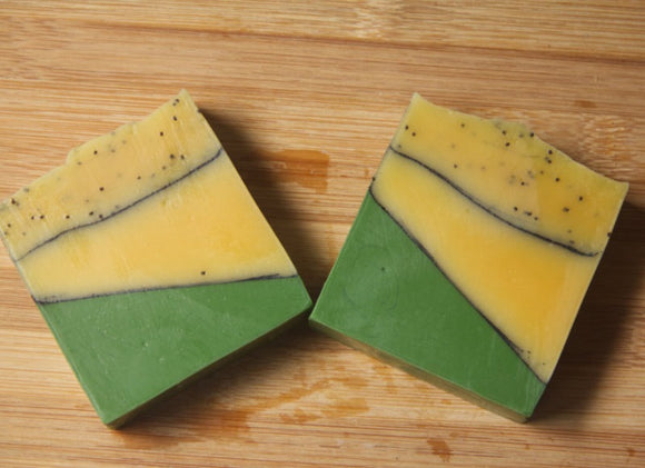 EarthMother Lemon Poppy Seed Bar Soap