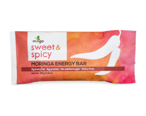 Moringa Energy Bar, Sweet and Spicy