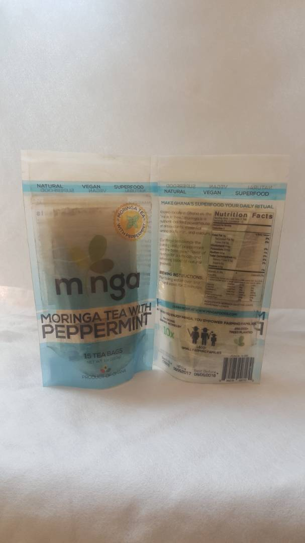 Minga Tea with Peppermint (Moringa and Peppermint Teabags) *Proudly Made in Ghana*