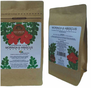 Moringa and Hibiscus Infusion Tea Bags *Proudly Made in Ghana*