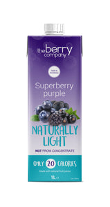Naturally Light Superberries Purple Juice, 1L, The Berry Company