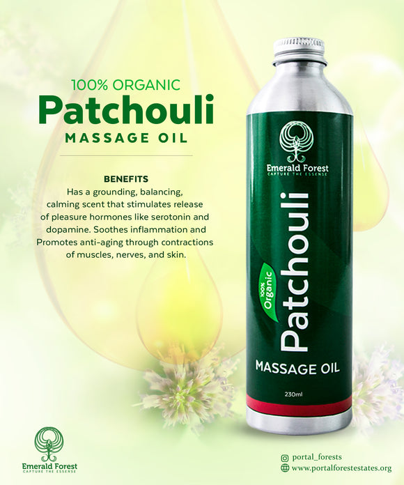 Emerald Patchouli Massage Oil - 330ml