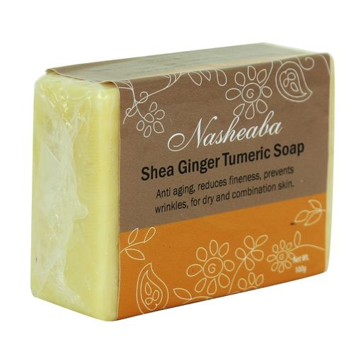 Shea Ginger Tumeric Bar Soap, Anti-ageing, Dry Combination Skin