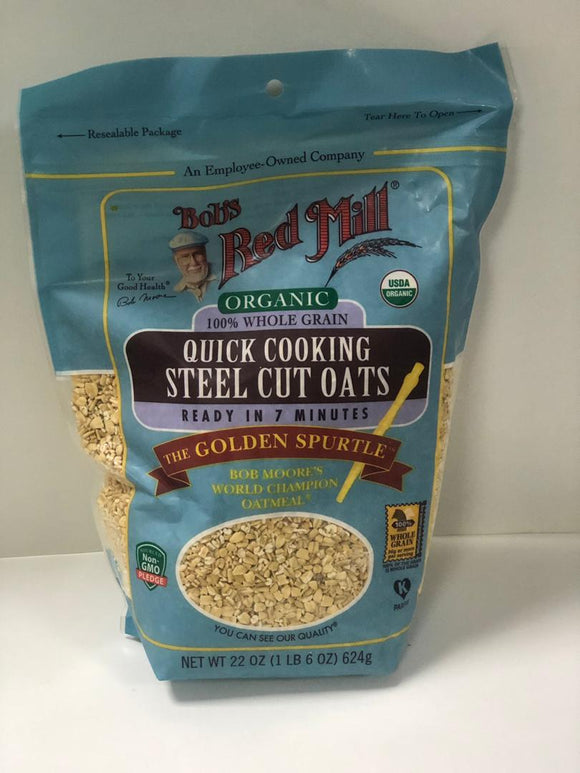 Steel Cut Oats, Organic, 100% Wholegrain, Quick Cooking