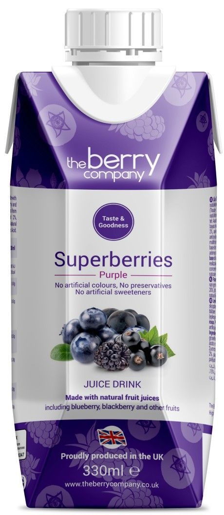 Superberries Purple Juice, 330ml, The Berry Company