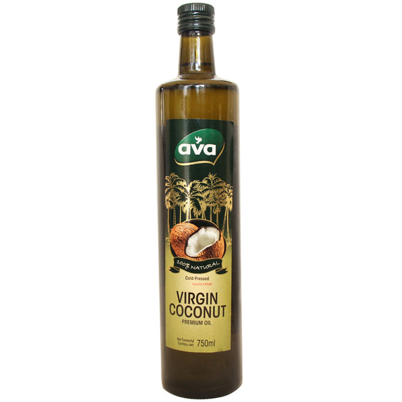 Virgin Coconut Premium Oil, 100% Organic, Cold Pressed, 750ml