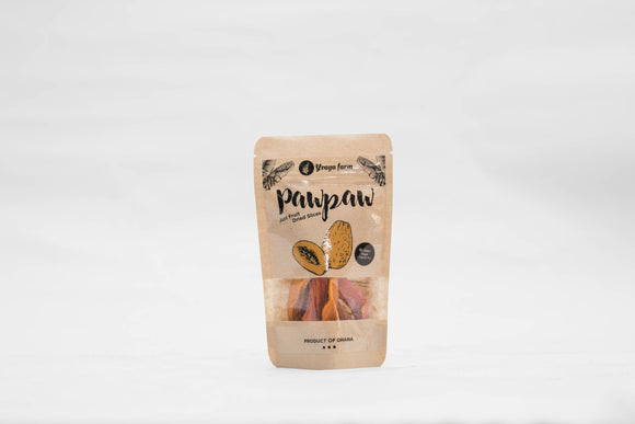 Dried Pawpaw 45g, *Proudly Made in Ghana*