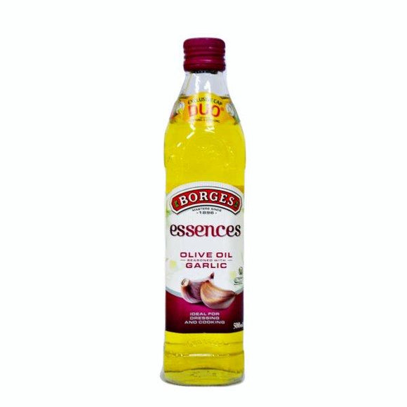 Borges Olive Oil with Garlic, 500ml