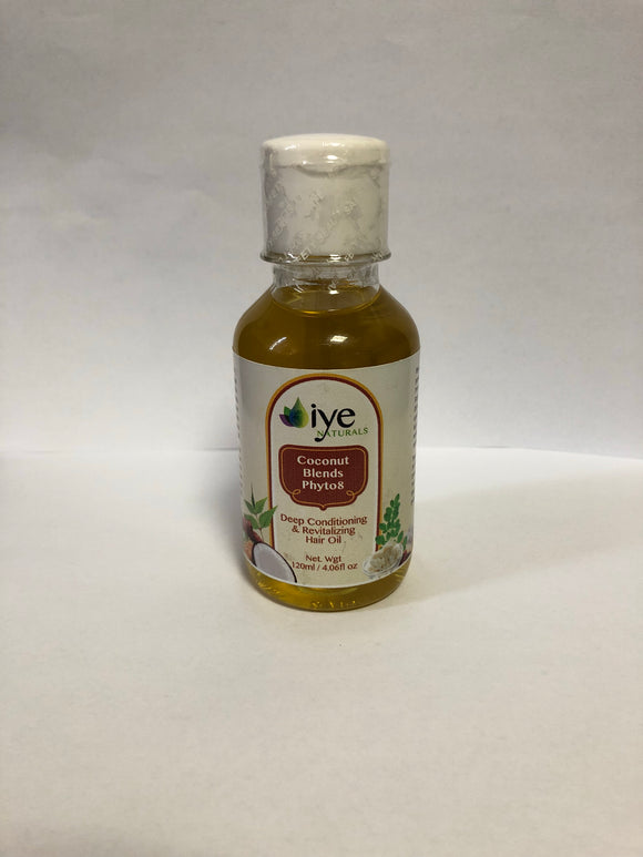 Iye Naturals Coconut Blends Phyto 8 Hair Oil *Proudly Made in Ghana*