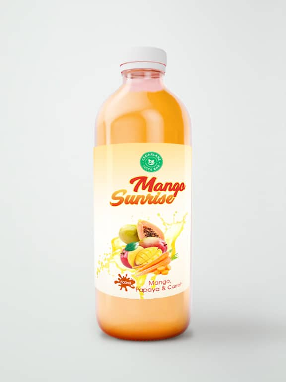 Mango Sunrise Juice, Cedarlane, 500ml