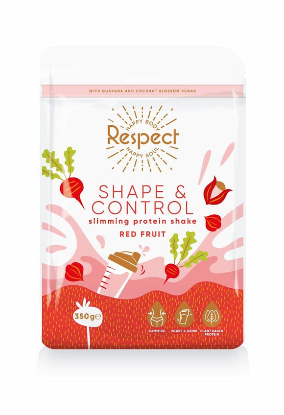 Respect Shape and Control Red Fruit 350g Protein Shake
