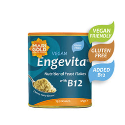 Engevita Nutritional Yeast Flakes with B12, Vegan, Gluten Free