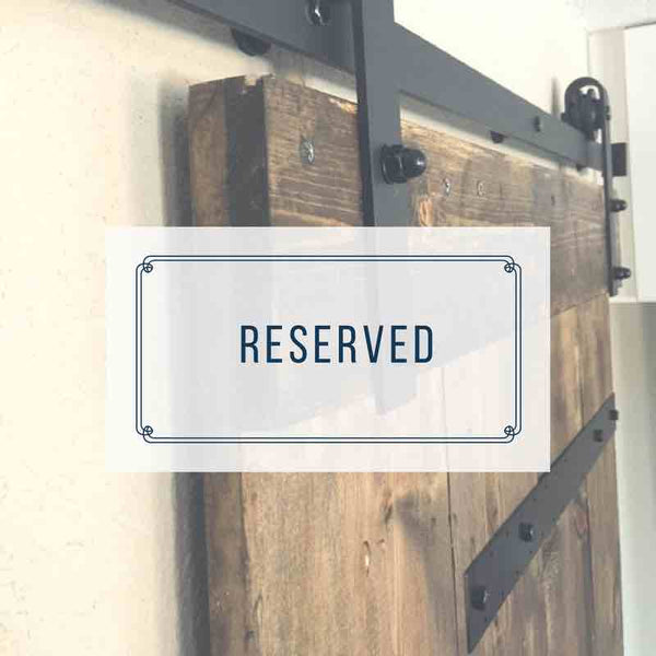 Three Barn Doors RESERVED - solid back