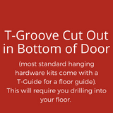 Door Guide: T Groove Cutout