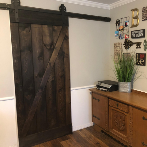 Jacobean / Ebony Combo Barn Door