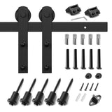 6.6ft Barn Door Hardware Kit: (with I-Shape Hangers)