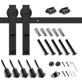 8ft Barn Door Hardware Kit: (with J-Shape Hangers)