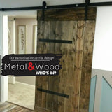 Black Industrial Barn Door